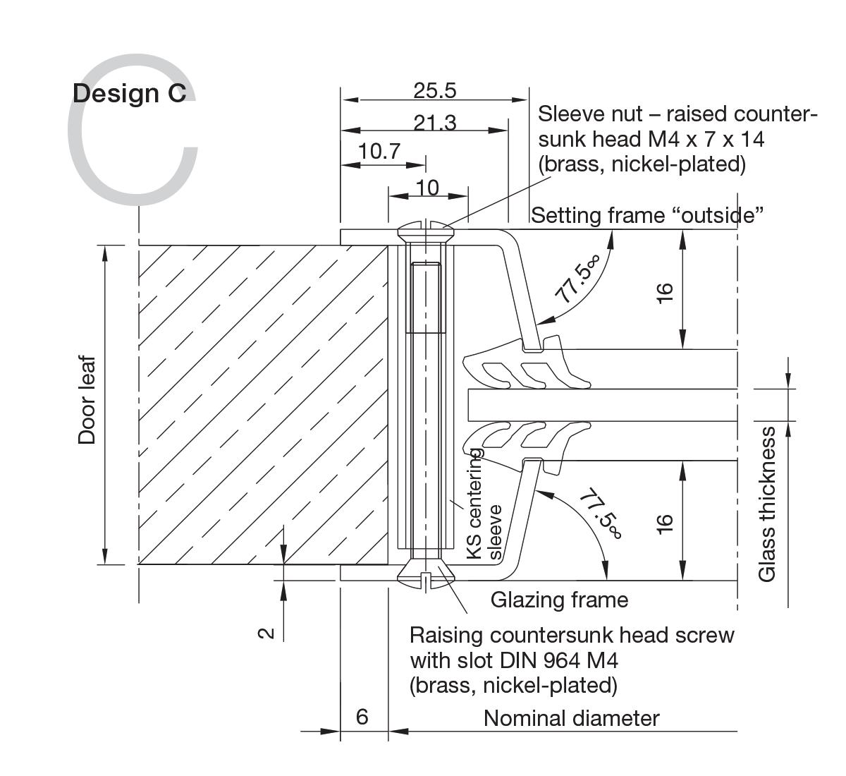 Aluminium Portholes Design C