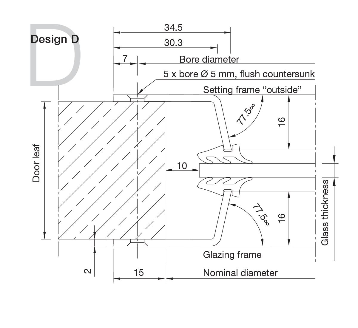Aluminium Portholes Design D