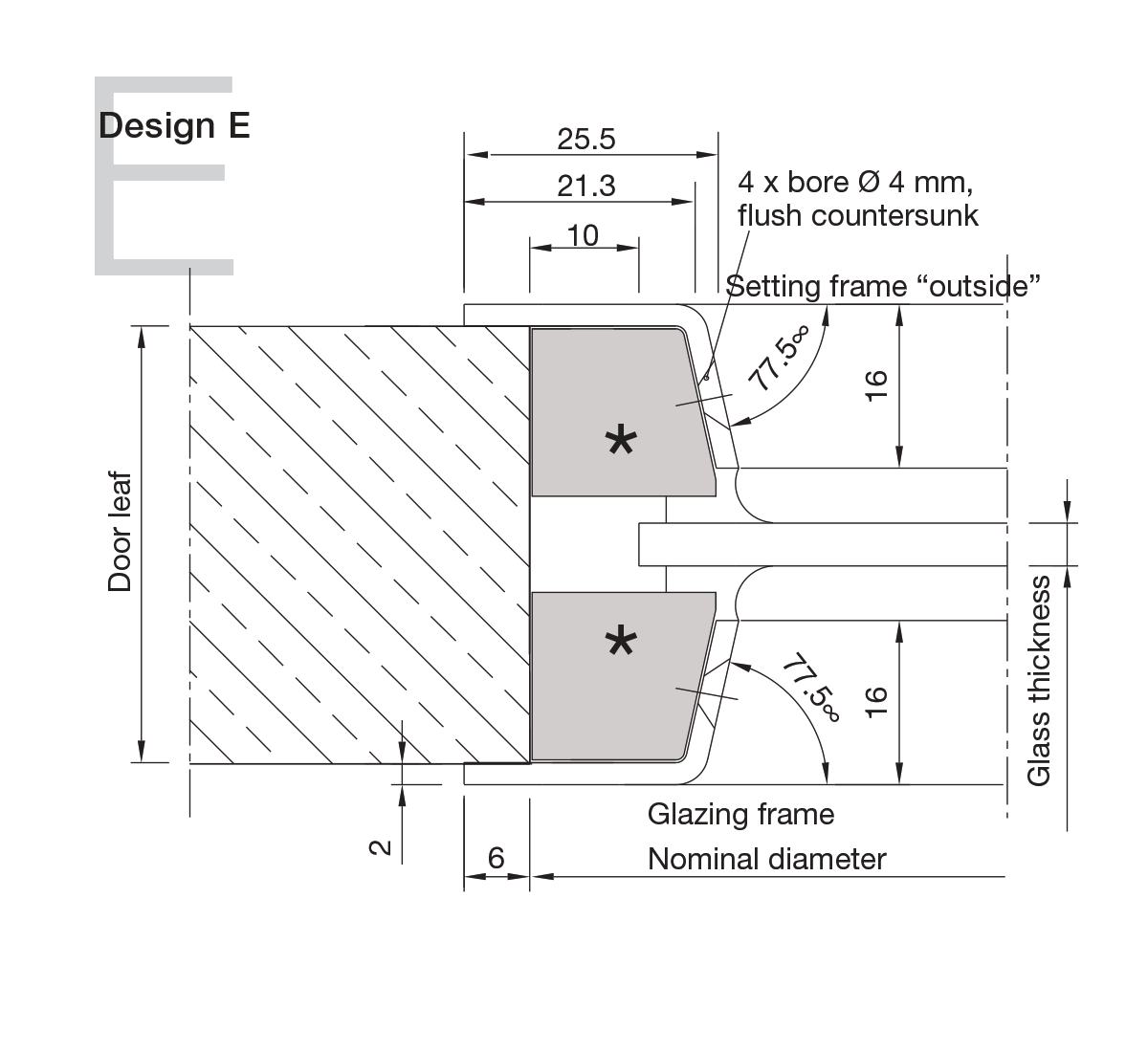 Aluminium Portholes Design E