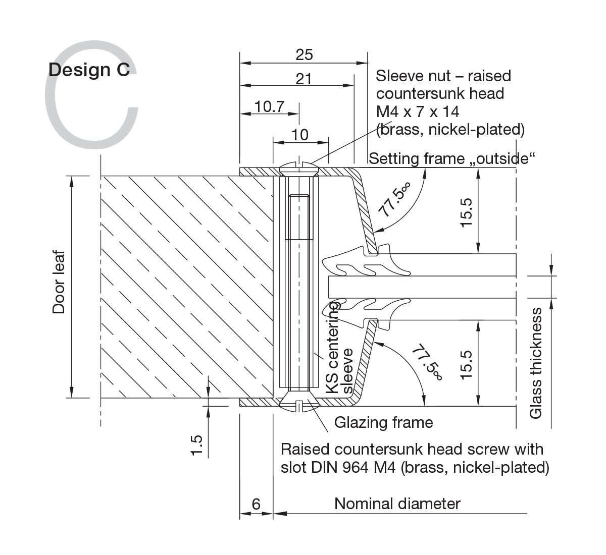 Stainless Steel Portholes Design C