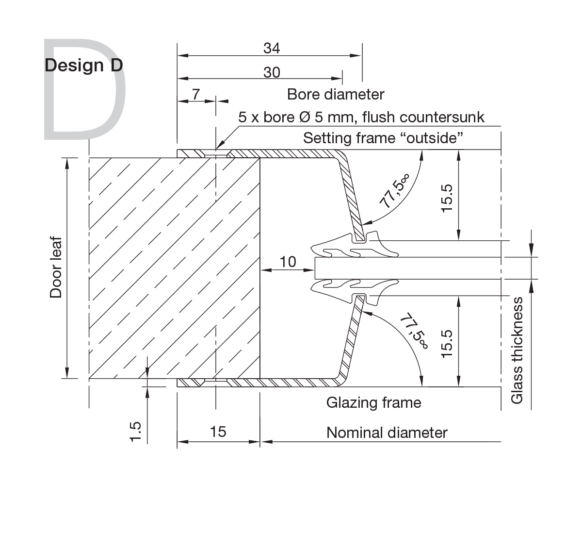 Stainless Steel Portholes Design D