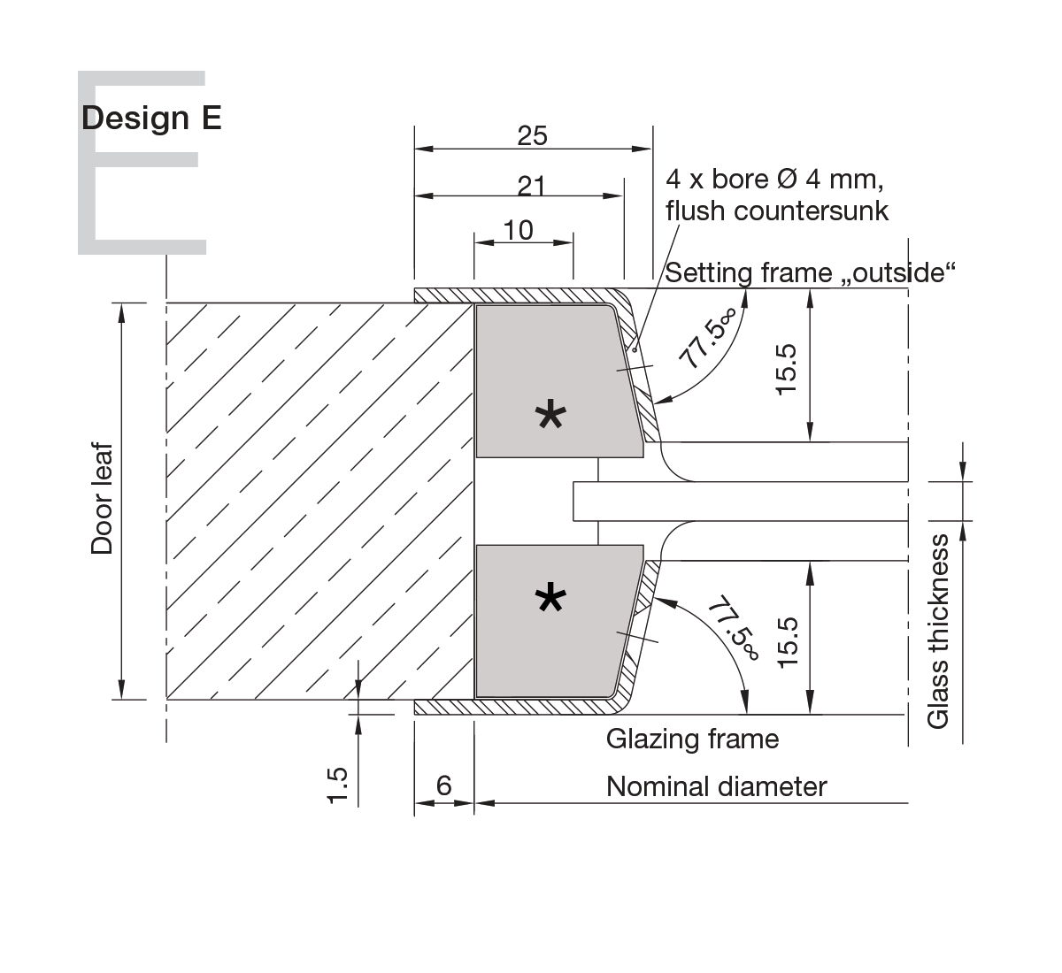 Stainless Steel Portholes Design E
